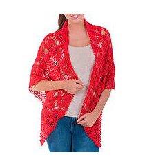 alpaca blend shawl, 'passion' (peru)