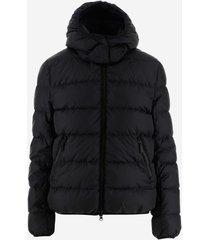 aspesi designer coats & jackets, women's padded jacket w/removable nylon scarf