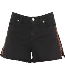 versace collection denim shorts