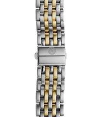 women's michele deco 16 16mm two-tone bracelet watchband