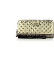 guess womens gold wallet