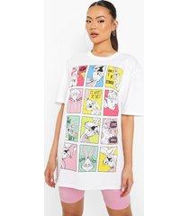 gelicenseerd oversized looney tunes t-shirt, white