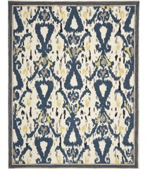 martha stewart collection ikat pendant msr4553b bone 4' x 4' round area rug