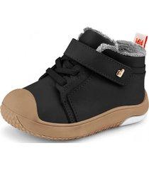 zapato con piel de peluche prewalker negro bibi