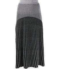balmain ribbed knit skirt - black