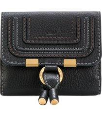chloé marcie square wallet - black