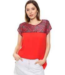 blusa roja kaba line lara