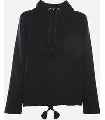 moncler genius cotton sweatshirt with maxi contrasting back print