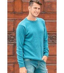 sweater celeste berkland colty algodón