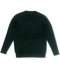 alfani men's solid v-neck cotton sweater, created for macy's