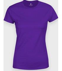 damska koszulka (bez nadruku, gładka) - fioletowa