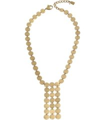 robert lee morris soho disc fringe necklace