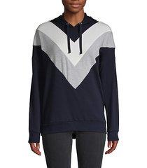 colorblock chevron hoodie