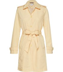 saba packable trench trenchcoat lange jas geel tommy hilfiger
