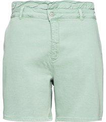 shorts cotton plus comfortable shorts denim shorts grön zizzi