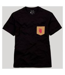 camiseta bolso coraçáo anatômico reserva preto