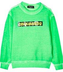 dsquared2 green sweatshirt