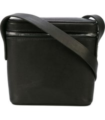 guidi square crossbody bag - black