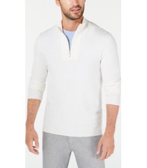 alfani men's quarter-zip ribbed placket sweater, created for macy's