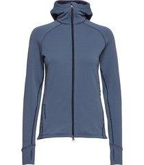 w's power houdi hoodie trui blauw houdini