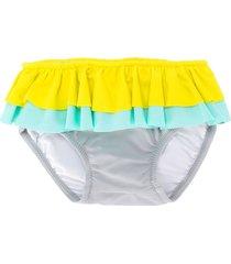 knot colour-block bikini bottoms - yellow