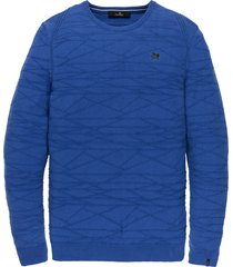 vanguard pullover kobaltblauw structuur vkw201316/5075 - maat xl - maat xl - maat xl - maat xl