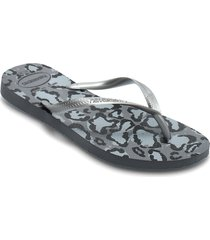 hav slim animals shoes summer shoes flip flops grå havaianas