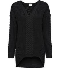 maglione a trecce (nero) - bodyflirt