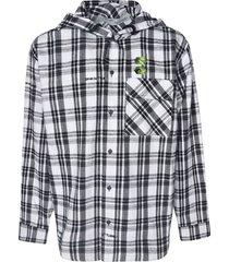 off-white check shirt hoodie