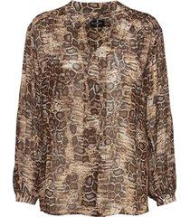 3411 - cecil overhemd met lange mouwen sand