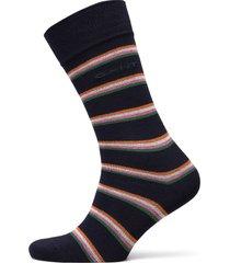 d1. 1 pack multi stripe underwear socks regular socks blå gant