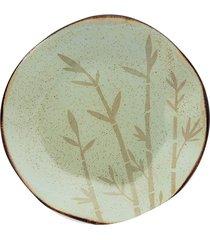 conjunto 6 pratos fundos 22,5cm bambu verde oxford
