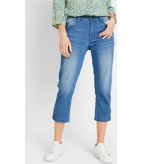 duurzame 3/4 jeans, gerecycled polyester
