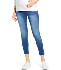 1822 denim butter ankle skinny maternity jeans, size 31 in donna at nordstrom