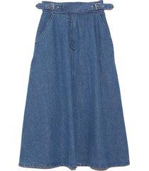roam skirt in classic indigo