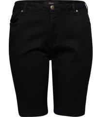 jeans, shorts, emily,slim leg shorts denim shorts svart zizzi