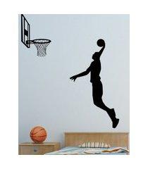 adesivo de parede quartinhos basquete preto