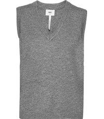 objthess s/l knit waistcoat vests knitted vests grå object