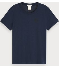 scotch & soda basic t-shirt met ronde hals