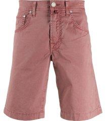 jacob cohen straight-leg denim shorts - pink