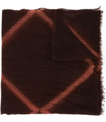 suzusan sheer knitted scarf - brown