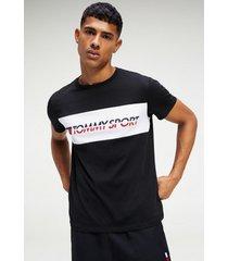 polera t-shirt logo driver negro tommy sport