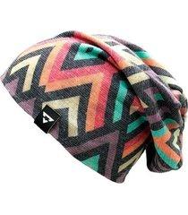 gorro touca brohood malha tricot geometrico colorido u - masculino