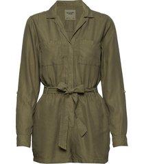 button utility romp långärmad skjorta abercrombie & fitch