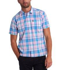 barbour men's madras short sleeve shirt