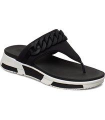 heda chain toe-thongs shoes summer shoes flip flops svart fitflop