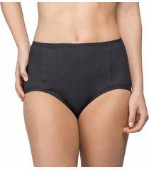calcinha alta frente dupla algodão egípcio preto - 578.024 marcyn lingerie alta preto