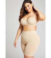 lane bryant women's level 2 slimmer high-waist short panty 14/16 cafe mocha