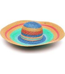missoni striped multicolor straw hat
