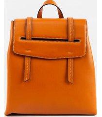 blair basic flap backpack - brown